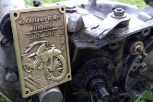 Oldtimer Plakette für Motorrad Rally
