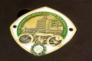 Oldtimer Plakette 90 Jahre Sachsenring Hohenstein Ernsttahl
