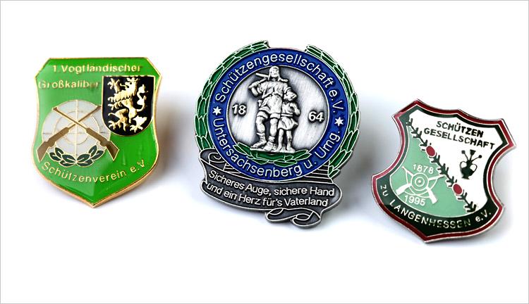 Hersteller für Vereinsnadeln und Abzeichen, Ehrenabzeichen, Pins und Orden.