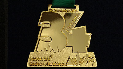 Medaillen Muster gold glänzend