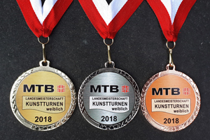 Medaillen mit Aufkleber