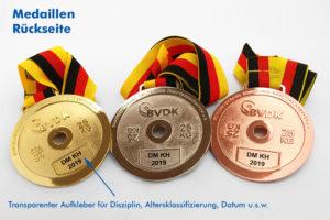 Medaillen zweiseitig geprägt