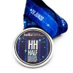 Medaille geprät – virtuelle Läufe mit Farbdruck