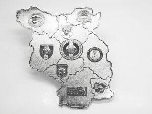 Ehrenplakette geprägt silber