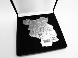 Ehrenplakette geprägt mit Samtetui