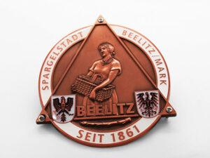 Ehrenplakette geprägt farbig